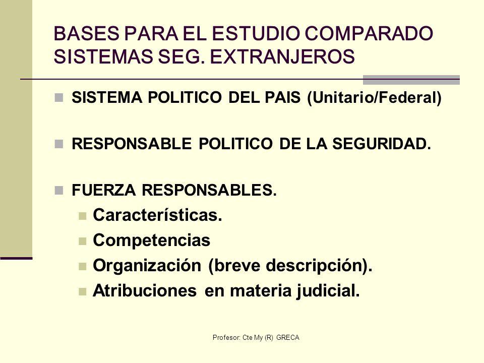 BASES PARA EL ESTUDIO COMPARADO SISTEMAS SEG. EXTRANJEROS