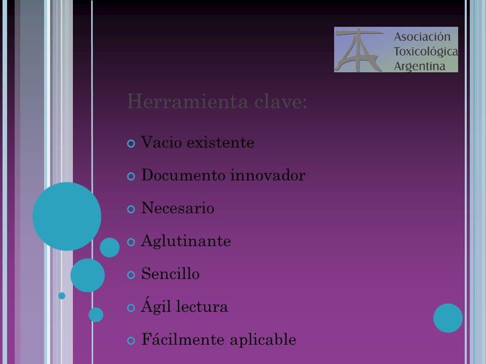 Herramienta clave: Vacio existente Documento innovador Necesario