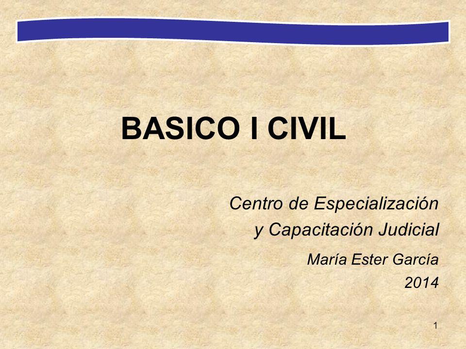 BASICO I CIVIL María Ester García Centro de Especialización