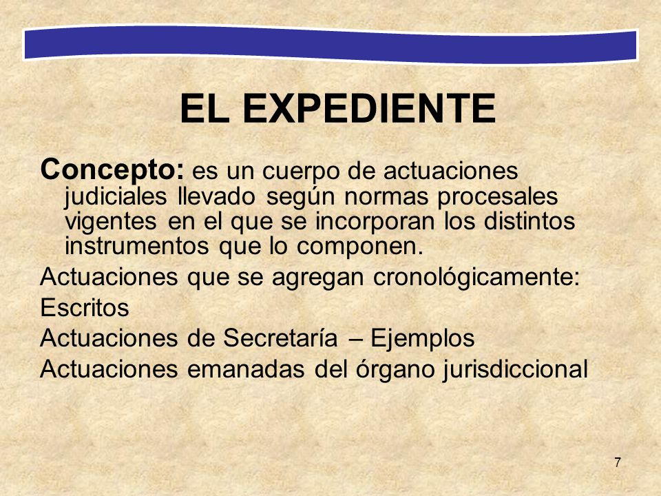 EL EXPEDIENTE