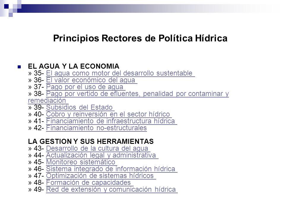 Principios Rectores de Política Hídrica