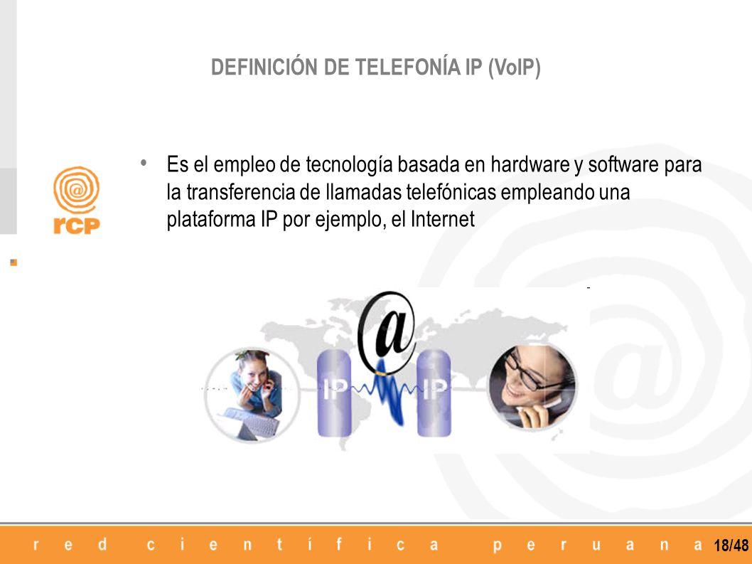 DEFINICIÓN DE TELEFONÍA IP (VoIP)