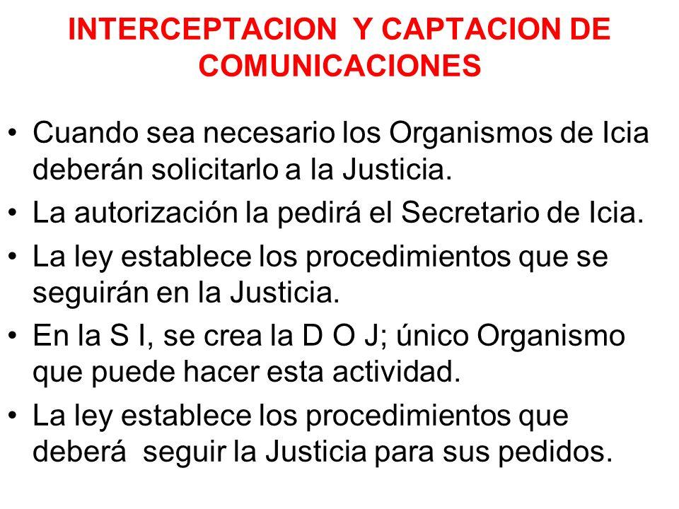 INTERCEPTACION Y CAPTACION DE COMUNICACIONES