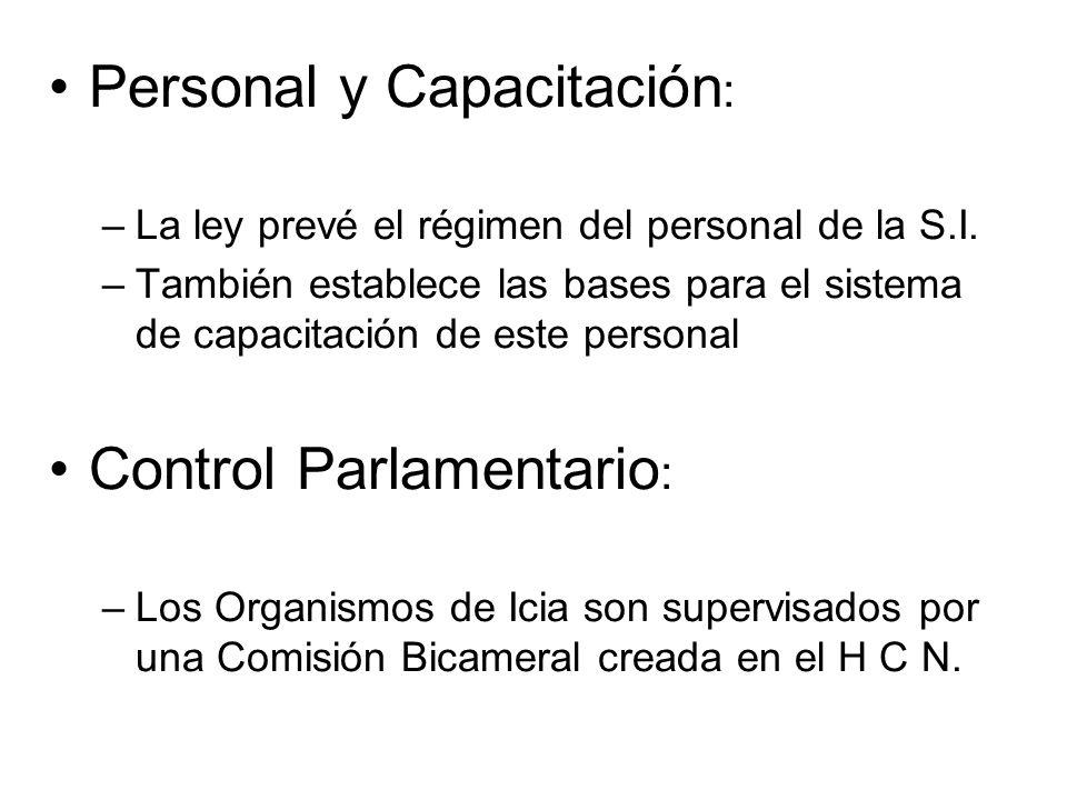 Personal y Capacitación: