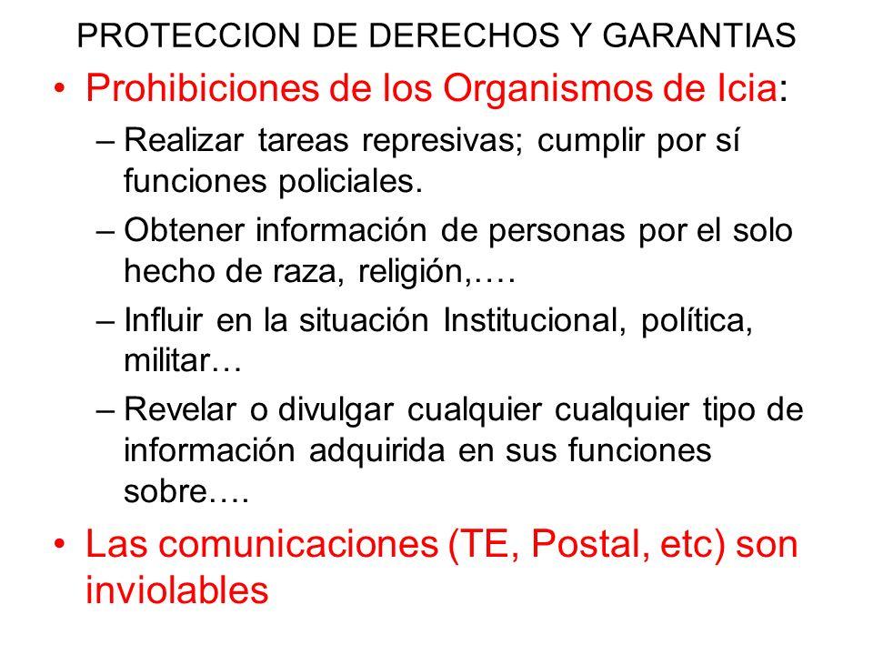 PROTECCION DE DERECHOS Y GARANTIAS