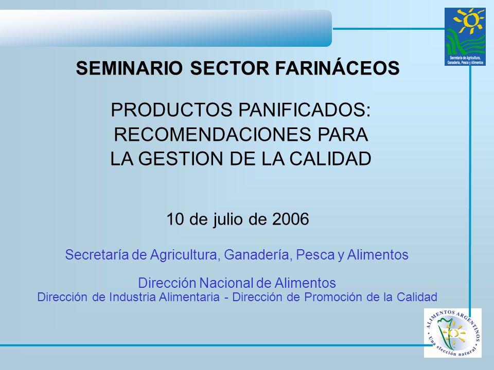 SEMINARIO SECTOR FARINÁCEOS PRODUCTOS PANIFICADOS: