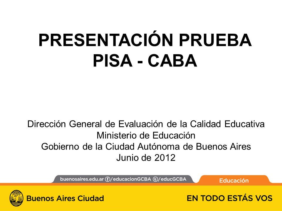 PRESENTACIÓN PRUEBA PISA - CABA