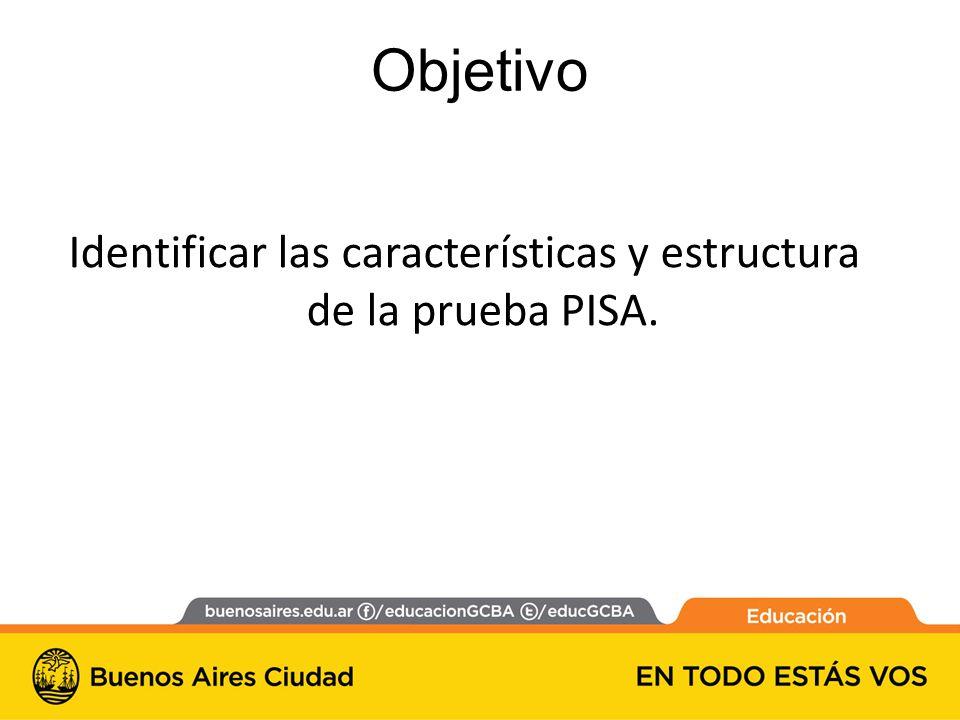 Identificar las características y estructura de la prueba PISA.