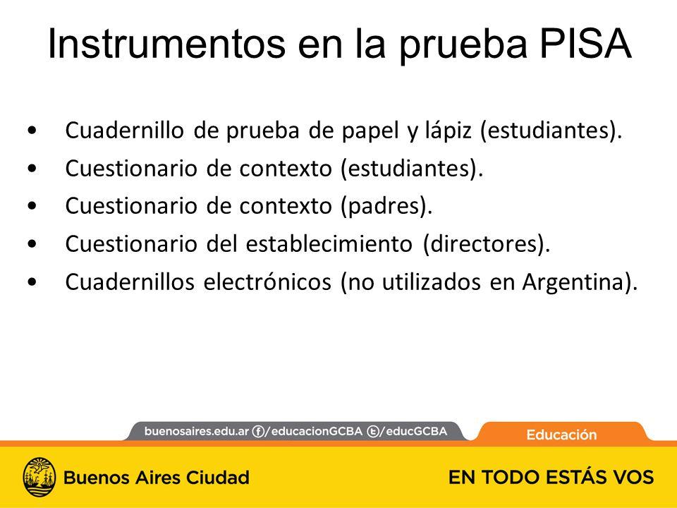 Instrumentos en la prueba PISA