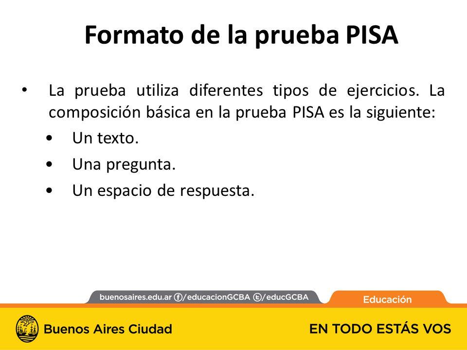 Formato de la prueba PISA