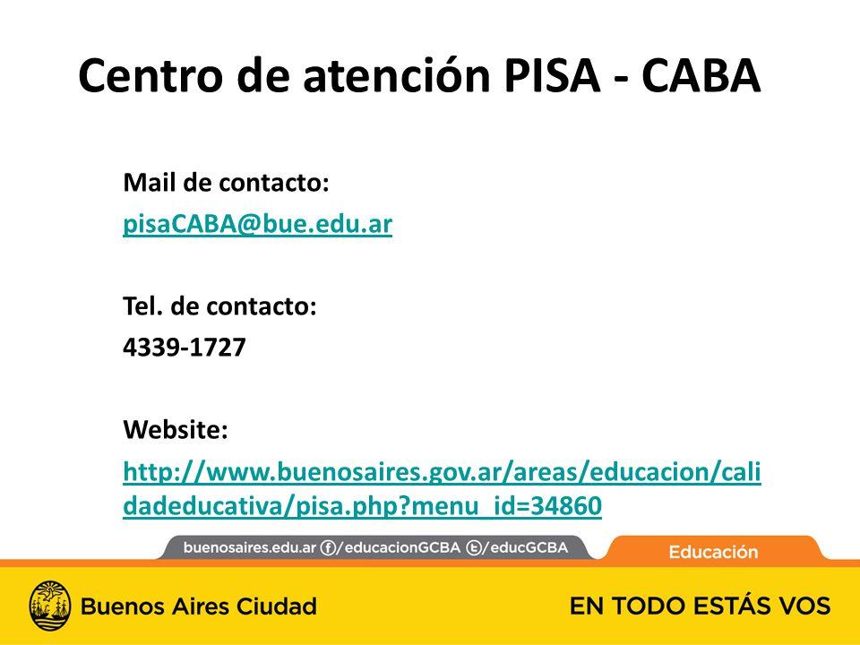 Centro de atención PISA - CABA