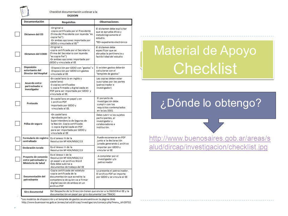 Material de Apoyo Checklist