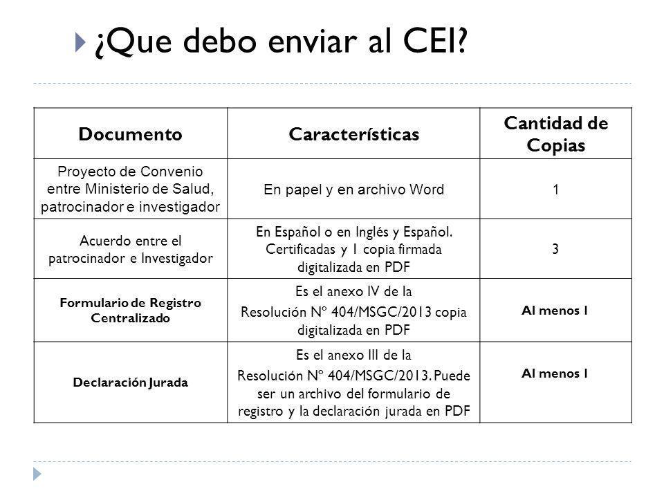 Formulario de Registro Centralizado