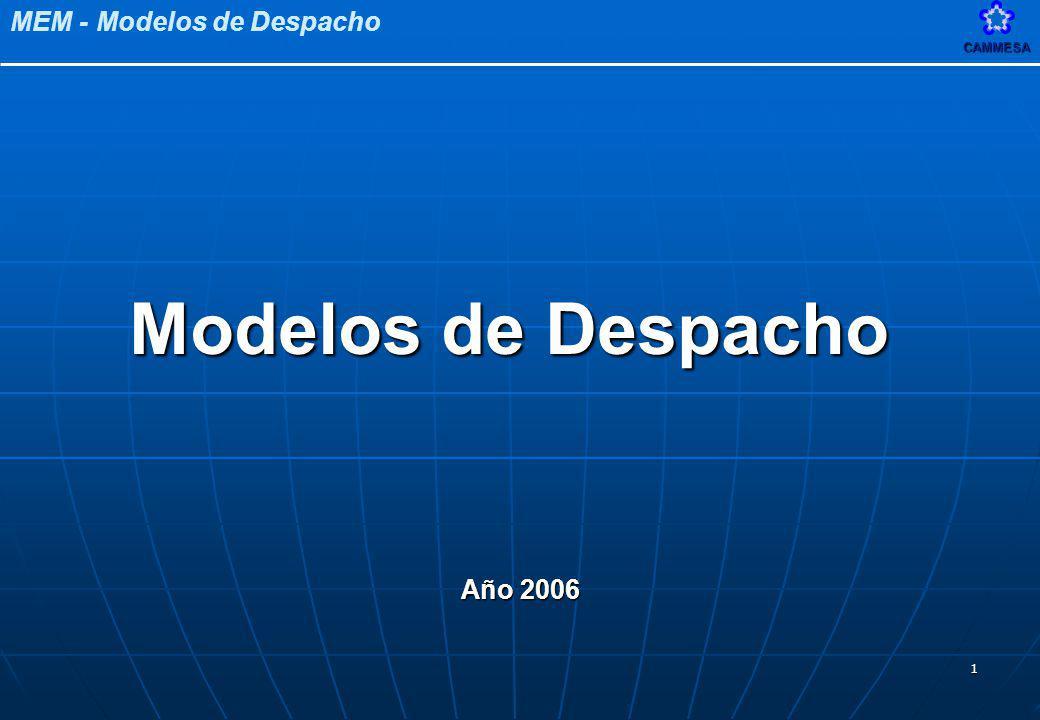 Modelos de Despacho Año 2006
