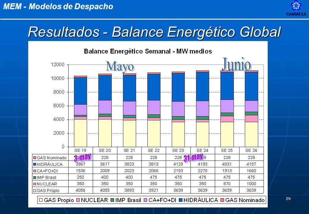 Resultados - Balance Energético Global