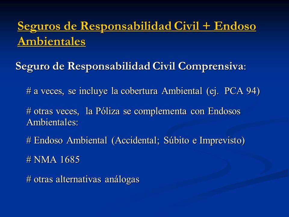 Seguros de Responsabilidad Civil + Endoso Ambientales