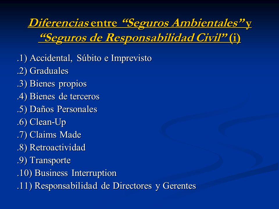 Diferencias entre Seguros Ambientales y Seguros de Responsabilidad Civil (i)