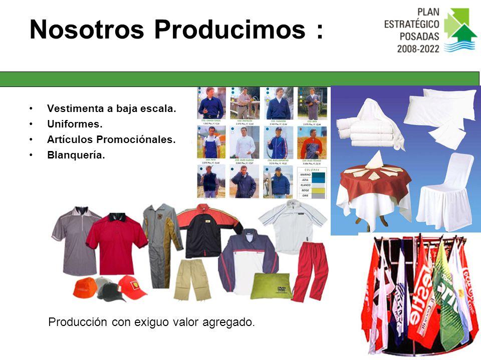 Nosotros Producimos : Producción con exiguo valor agregado.