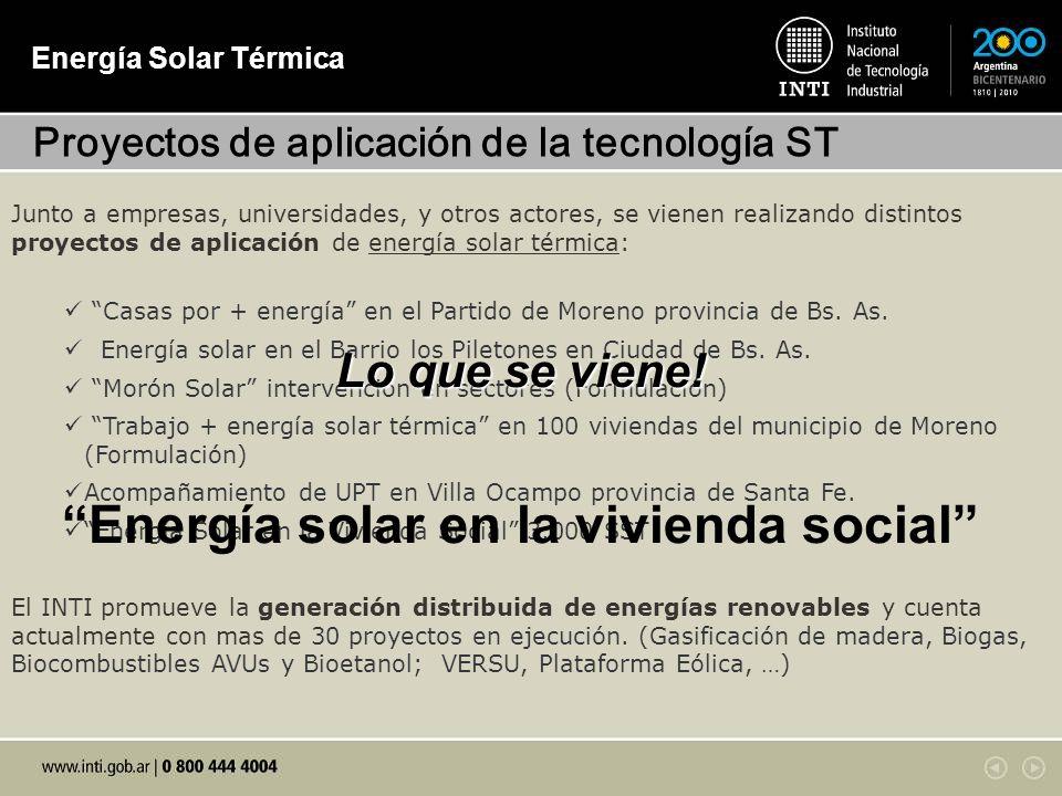 Energía solar en la vivienda social