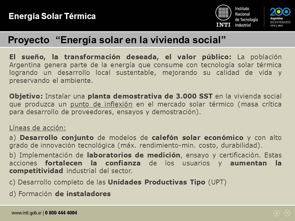 Proyecto Energía solar en la vivienda social