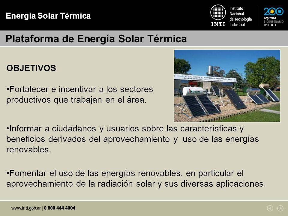 Plataforma de Energía Solar Térmica