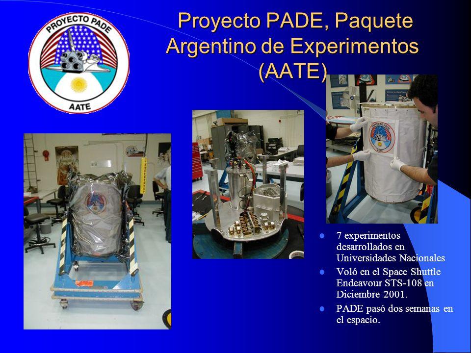 Proyecto PADE, Paquete Argentino de Experimentos (AATE)