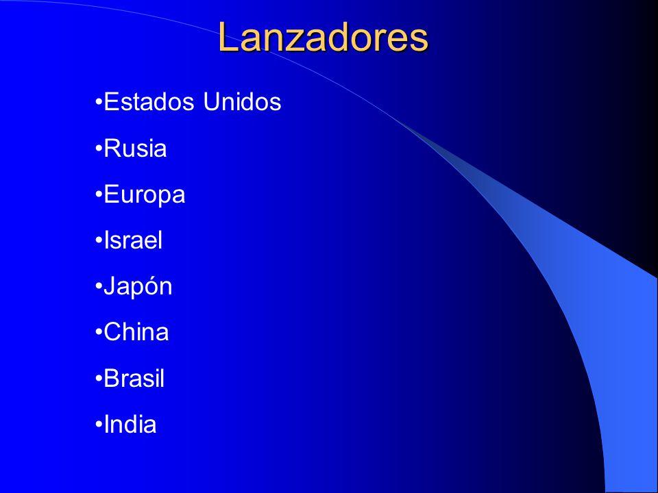 Lanzadores Estados Unidos Rusia Europa Israel Japón China Brasil India