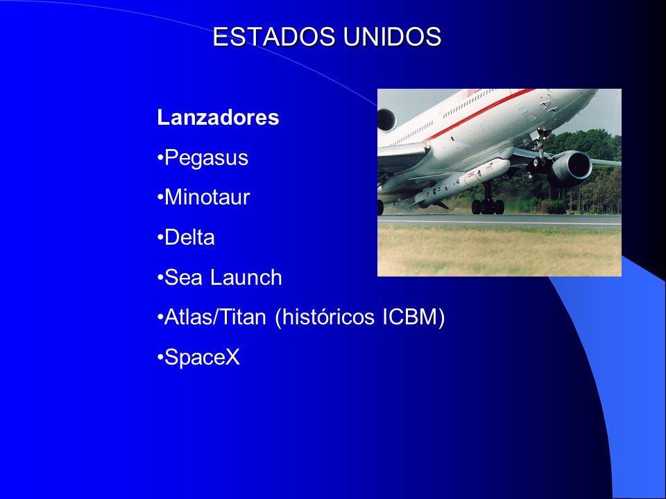 ESTADOS UNIDOS Lanzadores Pegasus Minotaur Delta Sea Launch