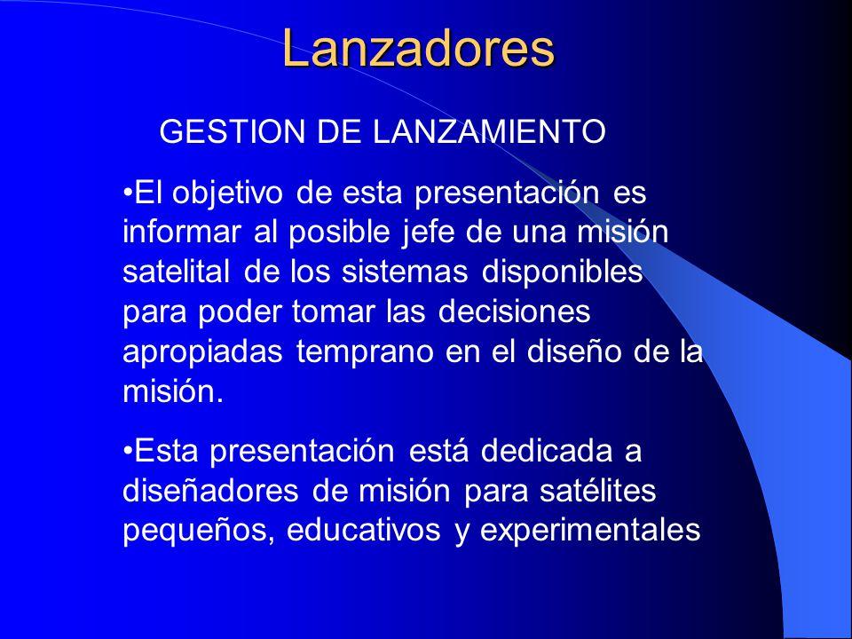 Lanzadores GESTION DE LANZAMIENTO