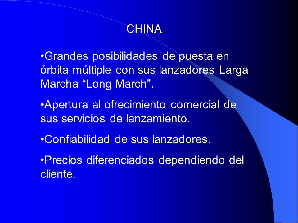 CHINA Grandes posibilidades de puesta en órbita múltiple con sus lanzadores Larga Marcha Long March .