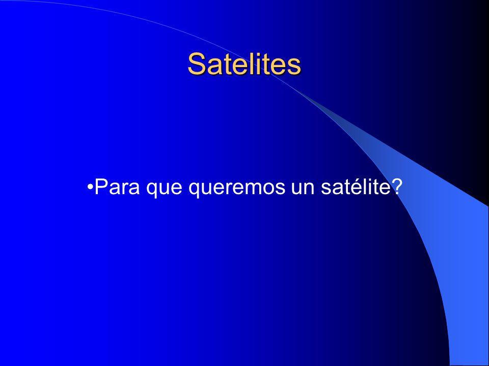 Satelites Para que queremos un satélite