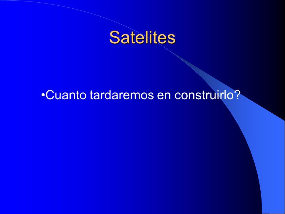 Satelites Cuanto tardaremos en construirlo