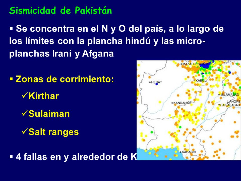 Sismicidad de Pakistán