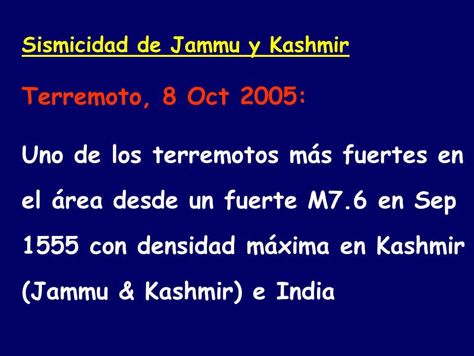 Sismicidad de Jammu y Kashmir