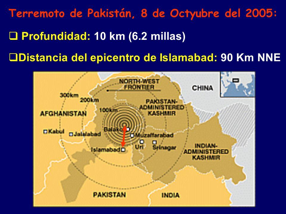 Terremoto de Pakistán, 8 de Octyubre del 2005: