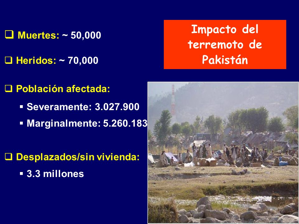 Impacto del terremoto de Pakistán