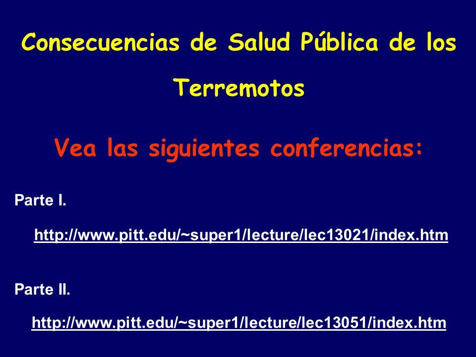 Consecuencias de Salud Pública de los Terremotos