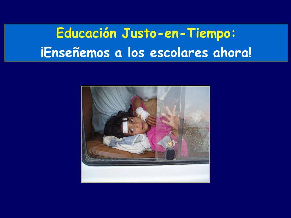 Educación Justo-en-Tiempo: ¡Enseñemos a los escolares ahora!