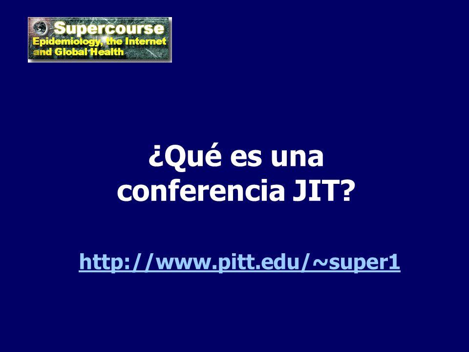 ¿Qué es una conferencia JIT
