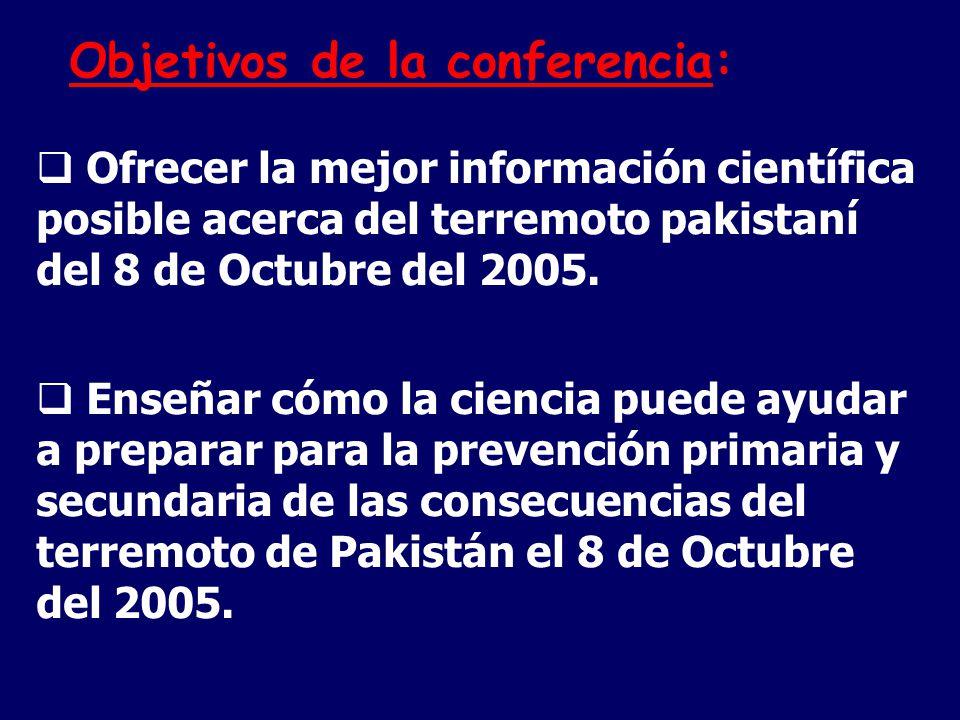 Objetivos de la conferencia: