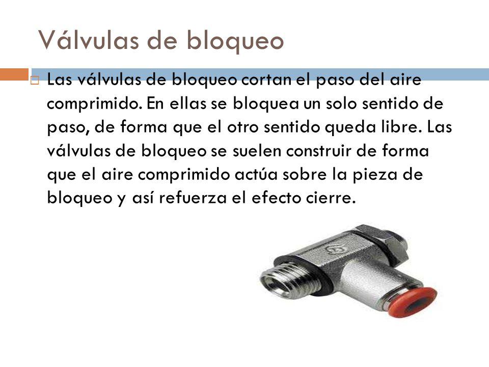 Válvulas de bloqueo