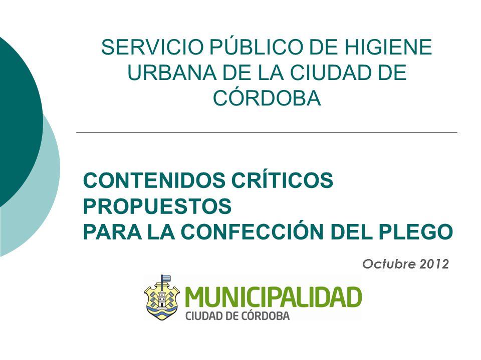 SERVICIO PÚBLICO DE HIGIENE URBANA DE LA CIUDAD DE CÓRDOBA