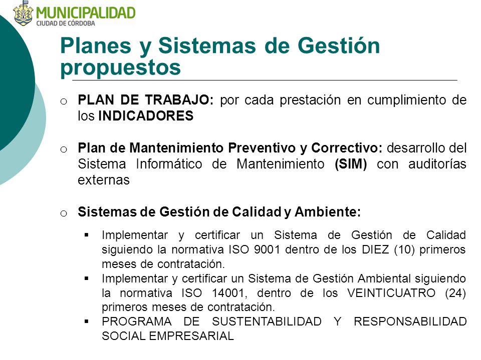 Planes y Sistemas de Gestión propuestos