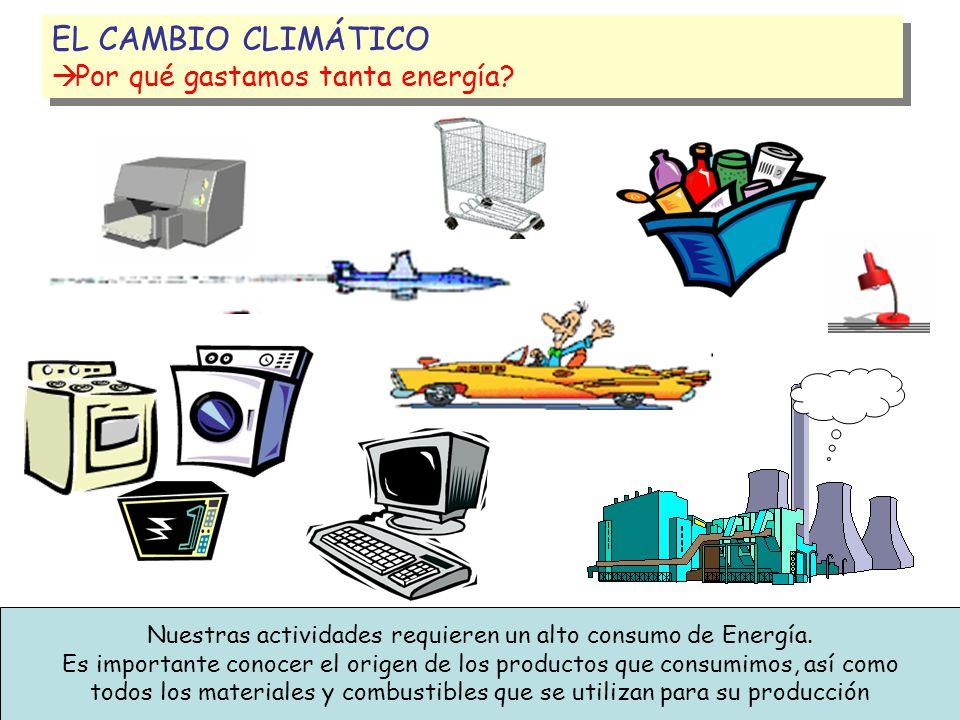 EL CAMBIO CLIMÁTICO Por qué gastamos tanta energía