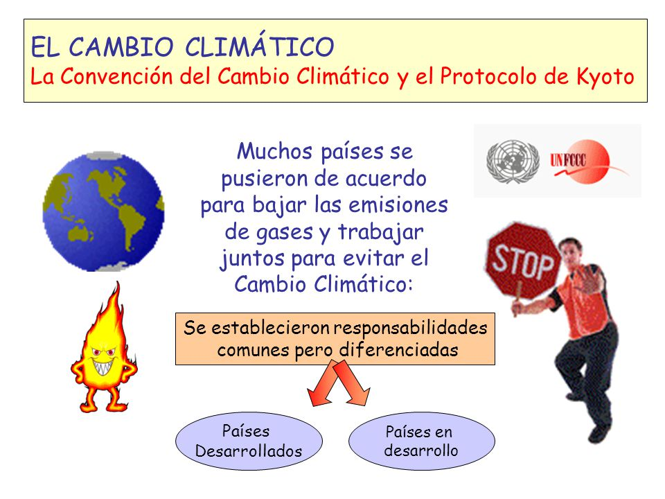 EL CAMBIO CLIMÁTICO La Convención del Cambio Climático y el Protocolo de Kyoto