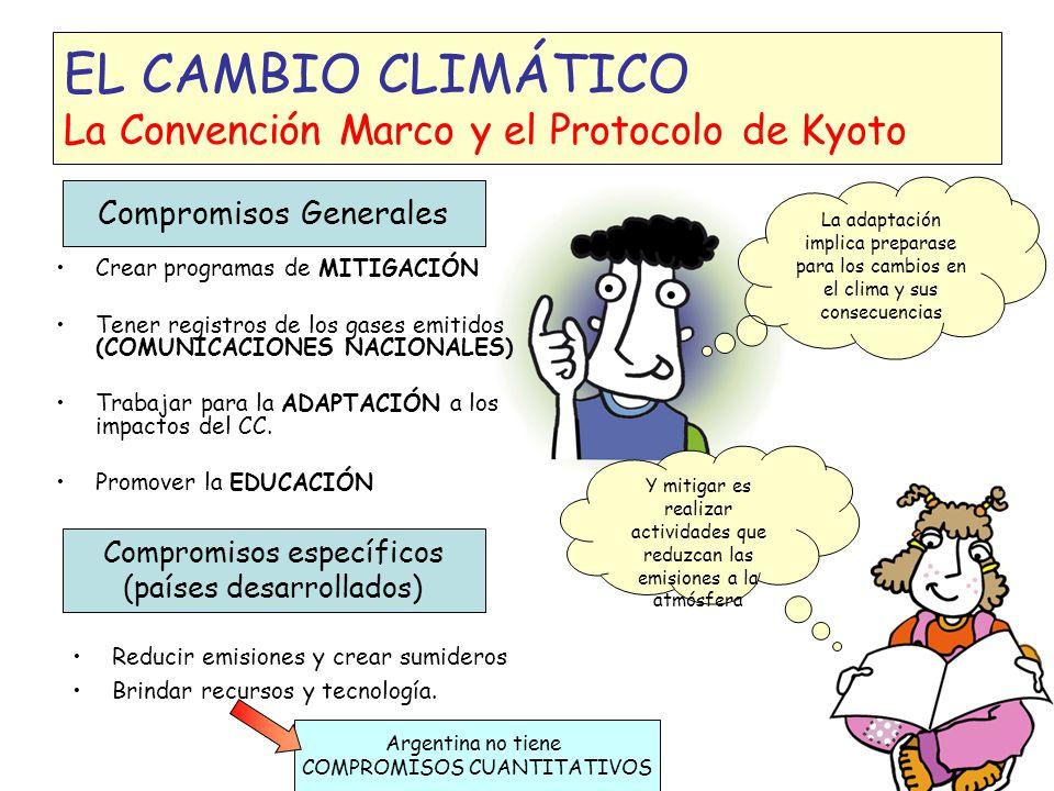 EL CAMBIO CLIMÁTICO La Convención Marco y el Protocolo de Kyoto