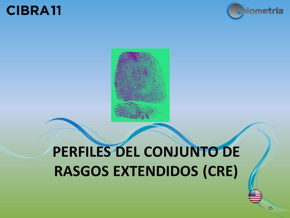 PERFILES DEL CONJUNTO DE RASGOS EXTENDIDOS (CRE)