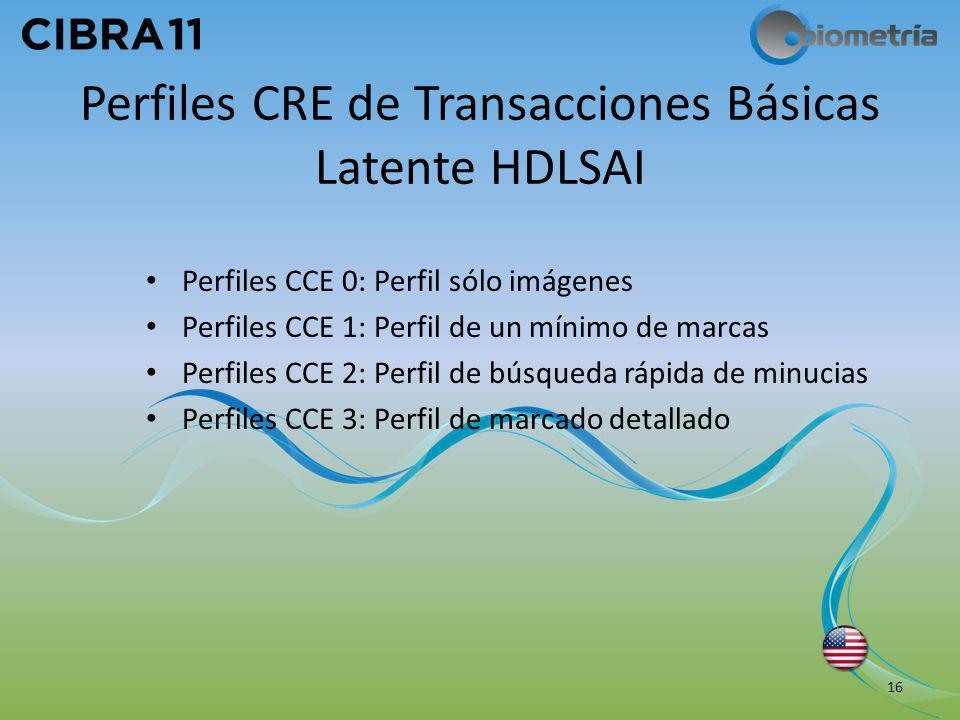 Perfiles CRE de Transacciones Básicas Latente HDLSAI