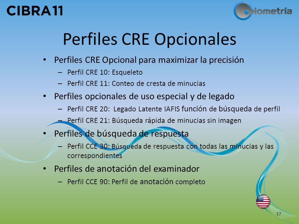 Perfiles CRE Opcionales