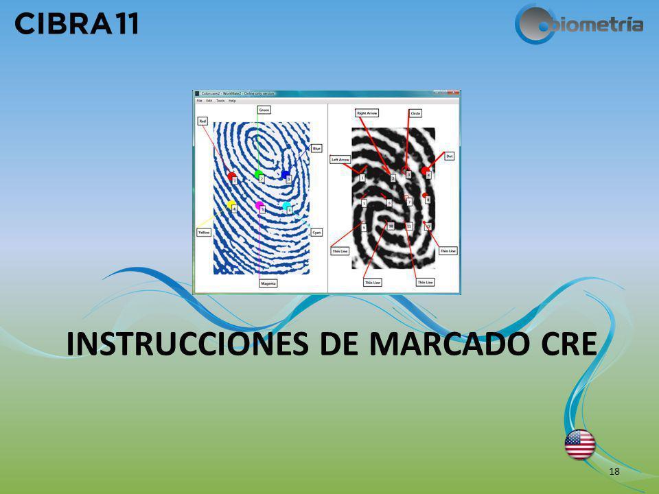 INSTRUCCIONES DE MARCADO CRE